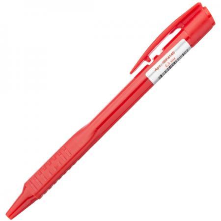 Шариковая ручка автоматическая Index непрозрачный корпус с трехгранным держателем, 0,5 мм, красная гель declare purifying cleansing gel объем 200 мл