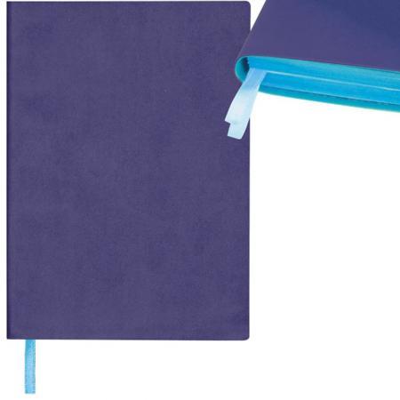 Ежедневник недатированный Index Colourplay ф. А5, кожзам, лин, ляссе, 256с, голубой срез, фиолетовый дырокол index colourplay  цвет  неоновый фиолетовый  icp115