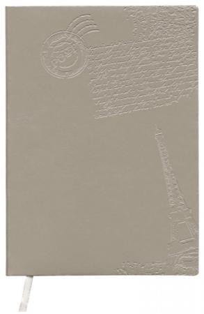 Ежедневник недатированный Index Paris ф А6+, кожзам, лин, ляссе, 256с, серый IDN111/A6/GR