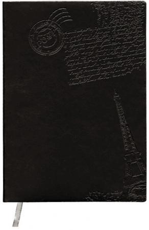 Ежедневник недатированный Index Paris ф А6+, кожзам, лин, ляссе, 256с, чёрный IDN111/A6/BK