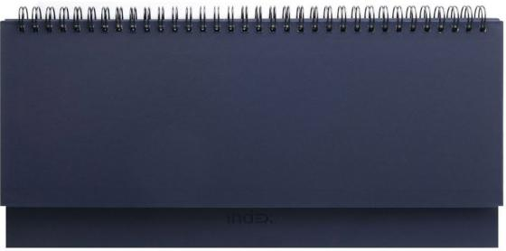 Планинг Index BASIC, евроспираль, недатир, 128с., ф.305*140мм, темно-синий IPN115/DB планинг index avanti недатир скрытая евроспираль 128с ф 305 140мм чёрный ipn117 bk