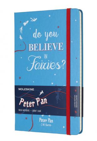 Блокнот Moleskine Limited Edition PETER PAN LEPN01DQP060 Large 130х210мм 240стр. линейка Fairies цена