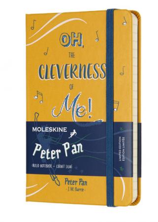 Блокнот Moleskine Limited Edition PETER PAN LEPN01BMM710 Pocket 90x140мм 192стр. линейка Peter peter pan