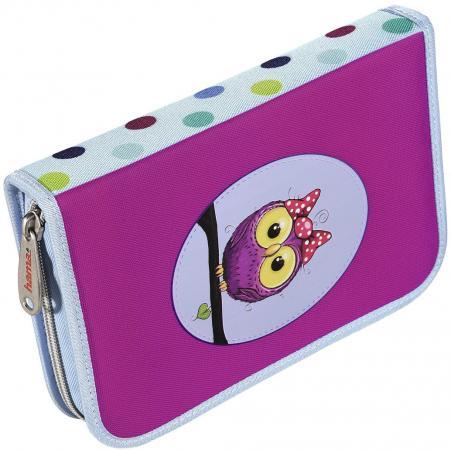 Пенал HAMA Sweet owl 139130 рюкзак hama sweet owl розовый голубой