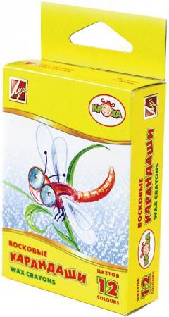 Восковые карандаши ЛУЧ 12С871-08 12 штук 12 цветов от 5 лет карандаши восковые мелки пастель carioca карандаши 12 цветов