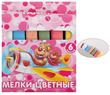 Мелки школьные Action! FANCY FCC-6* 6 штук 6 цветов от 3 лет масляные карандаши action fancy 12 штук 12 цветов от 3 лет fop200 12