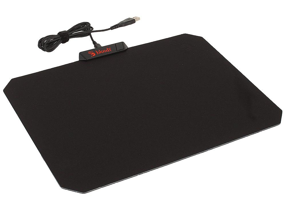 Картинка для Коврик для мыши A4Tech Bloody MP-60R,черный/рисунок Подсветка, 16.8млн цветов,160К памяти, текстурная гладкая ткань с влагозащитой