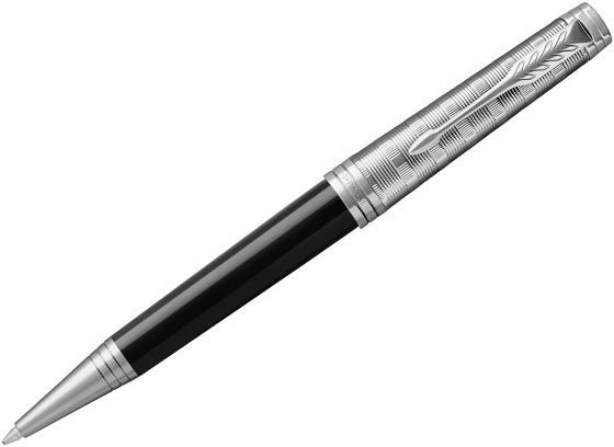 Шариковая ручка поворотная Parker Premier K561 Custom Tartan CT черный M 1931420 ювелирные ручки parker ручка шариковая premier custom crimsn red