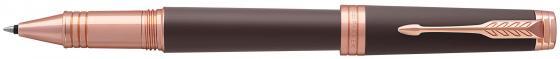 Ручка роллер Parker Premier T560 (1931407) Soft Brown PGT F черные чернила подар.кор. ручка шариковая parker premier soft k560 1876397 brown pgt m чернила черный ювелирная латунь