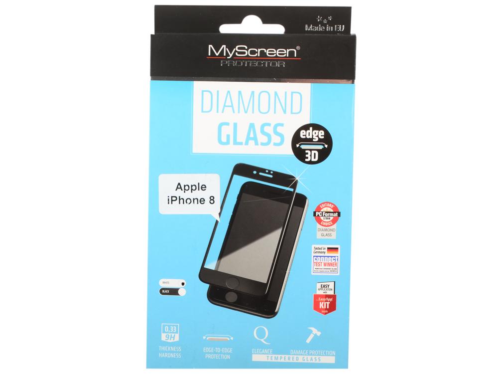 Пленка защитная lamel 3D закаленное защитное стекло MyScreen 3D DIAMOND Glass EA Kit White iPhone 8 diamond painting 2015 3d diy mzc 15