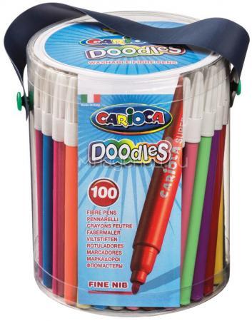 Набор фломастеров CARIOCA DOODLES, 100 шт., в пластиковом ведерке на лямке over 100 monster doodles