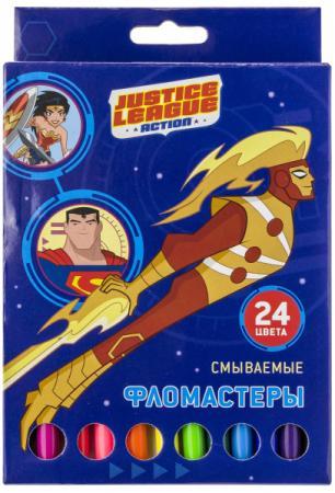 Набор фломастеров ACTION! DC Comics, 24 цв., картон с е/п, 2 диз. набор кистей action dc comics пони 2 4 6 блистер с е п