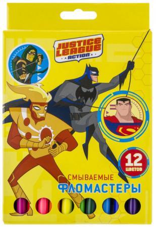 Набор фломастеров ACTION! DC Comics, цв. вентил. колпачки, 12 цв., картон с европодвесом белый цв 001