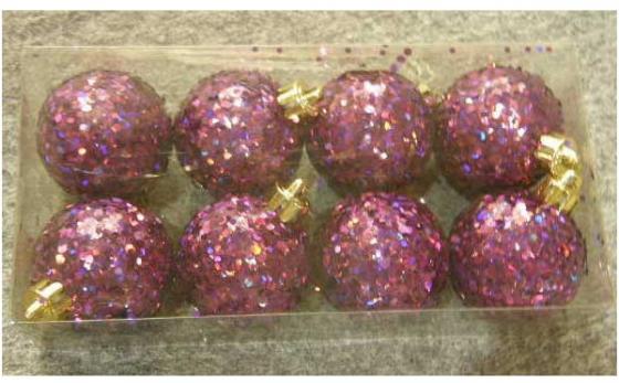 Набор шаров голограмма разноцветных, 8 шт. в прозрачной коробке, 5 см, 4 цв. набор украшений елочных 8 см 6 шт в коробке стекло