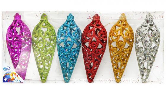 Елочные украшения Winter Wings Подвеска ажурная 16 см 6 шт елочные украшения winter wings сосульки 13 см 3 шт пластик