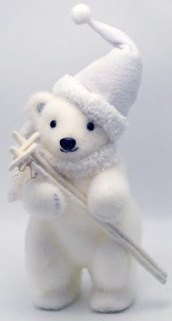 Украшение Winter Wings Мишка в шапке 25 см 1 шт белый полимер украшение winter wings ракушка 9 5 см 1 шт белый полимер
