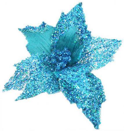 Украшение Winter Wings Цветок 22 см 1 шт бирюзовый полиэстер mikado amberlite 3004 f
