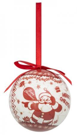 Набор шаров блестящих ВЕСЕЛЫЙ ДЕД МОРОЗ, 4 шт. в подарочной коробке, 7,5 см snowlife набор из 6 шаров елочных дед мороз диам 75 мм