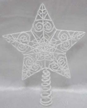 Наконечник Winter Wings Звезда 25 см 1 шт белый металл
