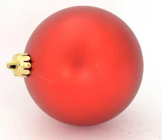 Набор шаров матовых,красных, 8 см, 10 шт. набор украшений елочных шары 10 шт 4 см