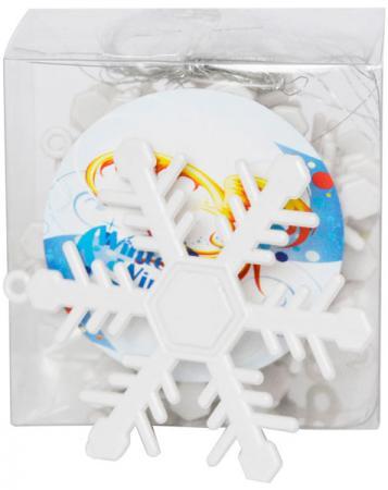 Елочные украшения Winter Wings Снежинки 6.5 см 12 шт белый пластик елочные украшения winter wings шары зеркальные 2 см 20 шт серебро пластик