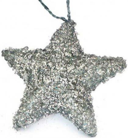 Картинка для Елочные украшения Winter Wings звезда 10 см 1 шт серебро полимер