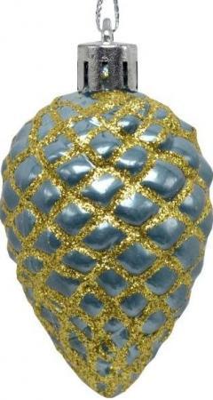 Набор украшений елочных ШИШКИ, 3 шт, 7 см, син набор елочных украшений ручной работы irena сеточка и бант стекло 7 шт