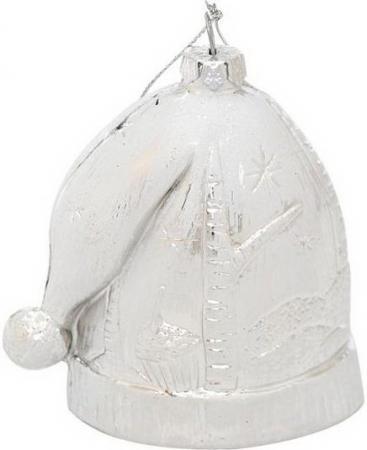 Украшение елочное ШАПКА НОВОГОДНЯЯ ЗИМНИЕ УЗОРЫ, 8 см, пластик цены онлайн