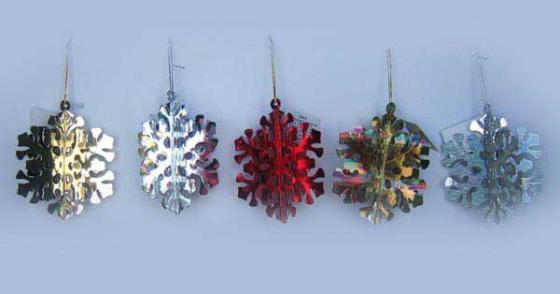 Набор украшений декоративных СНЕЖИНКА, 13 см, 3 шт, в пакете, 6 цветов набор свечей овечки 14 2х5х5 6 см парафин 3 шт в прозрач кор