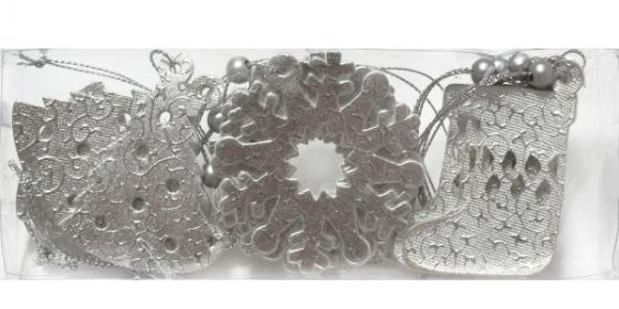 Елочные украшения Winter Wings Зимняя сказка 6 см 12 шт серебро полиэстер елочные украшения winter wings ёлочка клетка n180935 12 21 см 1 шт полиэстер