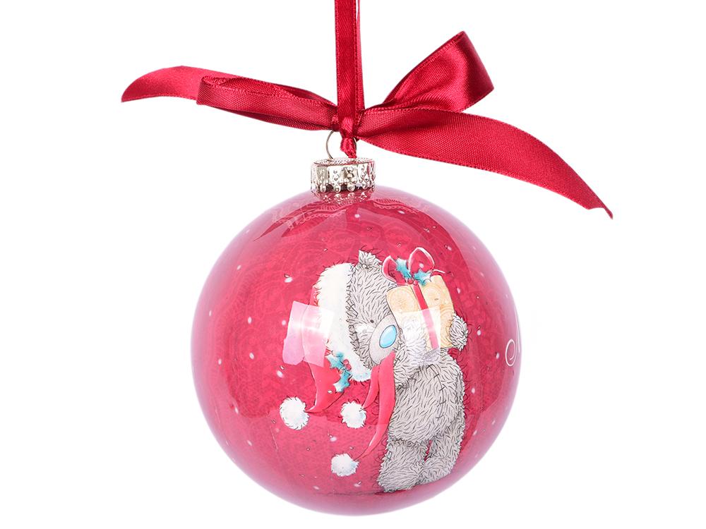 Шар елочный Me to you, блестящий, 10см в подар.кор. елочный шар снежное плетение ку 100 11 17 диаметр 10 см