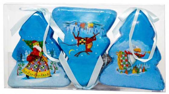 Украшение Winter Wings Елочки - зимний калейдоскоп 7.5*9 см 3 шт елочные украшения winter wings сосульки 13 см 3 шт пластик