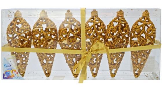 Елочные украшения Winter Wings Подвеска ажурная 16 см 6 шт золотой подвеска winter wings веселая елка 7 6 см n163202