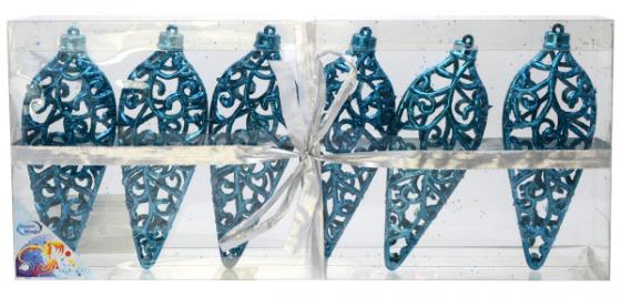 Елочные украшения Winter Wings Подвеска ажурная 16 см 6 шт синий подвеска silver wings цвет белый