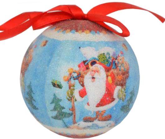 Набор шаров Winter Wings Дед Мороз с подарками N180944 7.5 см 7 шт цена и фото