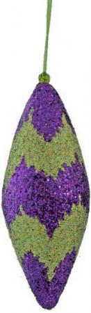 Украшение елочное ПОДВЕСКА, блестящая крошка, 1 шт., 10 см, 4 цв. набор украшений елочных шары 10 шт 4 см