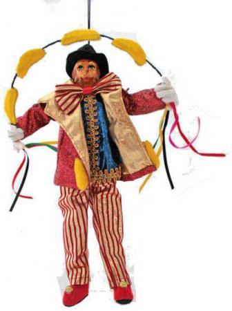 Украшение- подвеска декоративная ЦИРКОВАЯ ОБЕЗЬЯНА, 28 см цирковая азбука