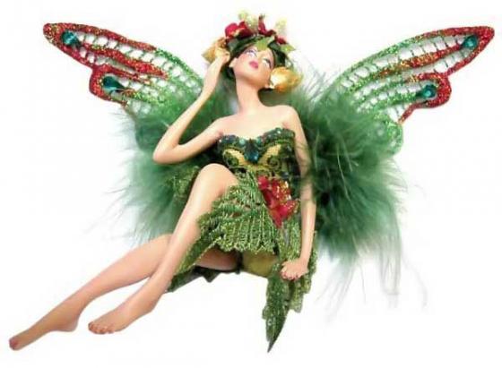 Украшение- подвеска декоративная ЭЛЬФ в зеленой одежде, 11 см|2 семена флокс эльф 0 1г