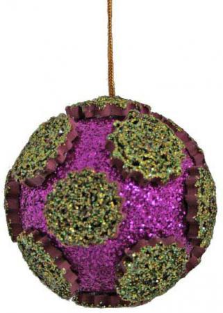 Шар блестящая крошка, 1 шт., 8 см, 2 цв. украшение декоративное снежинка блестящая крошка 1 шт в прозрачном пакете 27 см 6 цв