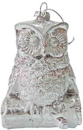 Елочные украшения Winter Wings Сова. Зимние узоры 11 см 1 шт белый пластик N181555 елочные украшения winter wings сосульки 13 см 3 шт пластик