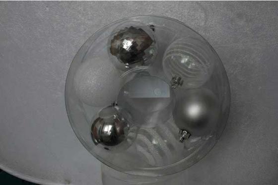 Украшение елочное ШАР МИКС , 6 шт,7 см, пластик, 2 цв украшение елочное дождик нарезанный 40 г 1 шт 1 шт в пакете пластик 2 цв пластик