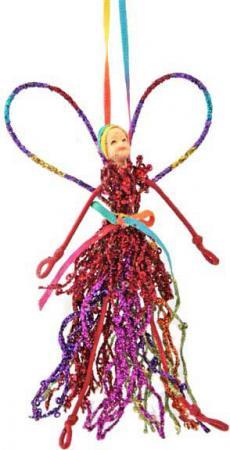 Украшение- подвеска декоративная ЭЛЬФ в красной одежде, 15 см|1 подвеска love для красной нити 05