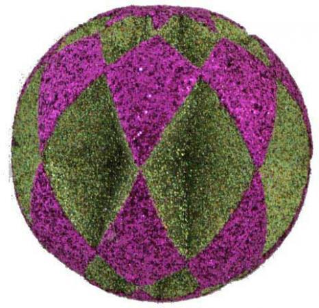 Шар блестящая крошка, 1 шт., 8 см, 4 цв.|2 украшение декоративное снежинка блестящая крошка 1 шт в прозрачном пакете 27 см 6 цв