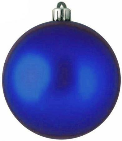 Шар блестящий, одноцветные в ПВХ коробке, 24 шт., 3 см, синий