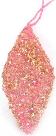 Украшение елочное ПОДВЕСКА в блестящей крошке, 1 шт, 10см, полим.мат, розовый елочное украшение свинка малышка символ года в подарочной упаковке 10см