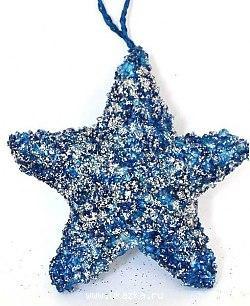 Украшение елочное ЗВЕЗДА в блестящей крошке, 1 шт, 10см, полим.мат, синий елочное украшение свинка малышка символ года в подарочной упаковке 10см
