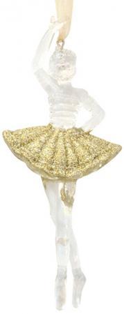 Украшение елочное БАЛЕРИНА ШАMПАНЬ, 16 см, 1 шт.1 шт. в пакете, пластик