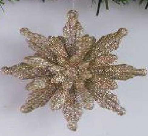 Елочные украшения Winter Wings Снежинка 8 см 1 шт пластик N069382 цена