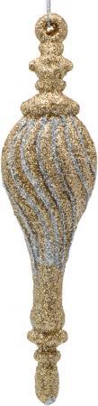 Украшение елочное ПОДВЕСКА, блестящая крошка, 1 шт. в прозрачной коробке, 12 см, 1 цв., серебро украшение декоративное снежинка блестящая крошка 1 шт в прозрачном пакете 27 см 6 цв