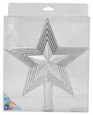 Наконечник Winter Wings Звезда с блестящей крошкой 25 см 1 шт в ассортименте пластик N069438 цена и фото